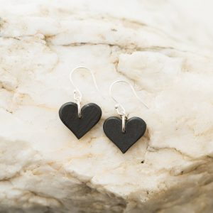 Small Textured Heart Earrings