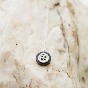 Small Button Necklace