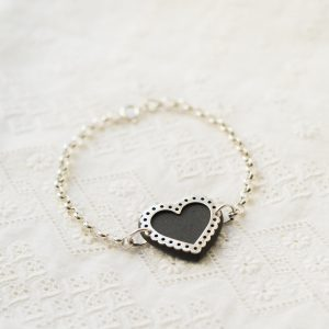 Large Lace Heart Bracelet