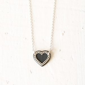 Small Lace Heart Necklace